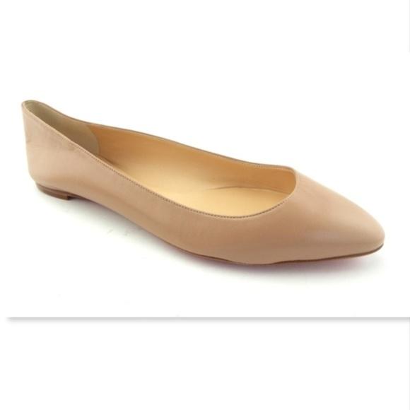 e01043bc7bda Christian Louboutin Shoes - Unworn CHRISTIAN LOUBOUTIN Nude Ballet Flats 42